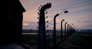 The Carousel Made of Barbed Wire (Finland) (2019) Directed by Jani Ahlstedt. Auschwitz II-Birkenau, concentration and extermination camp. Photo Jani Ahlstedt